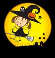 Halloween Little Wizard 002 vector image vector image