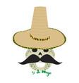 happy mexican skull cinco de mayo vector image
