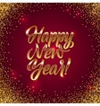 Happy New Year Calligraphy Greeting Card Golden vector image