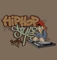 HIP HOP 1 vector image