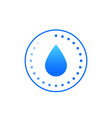humidity icon sign vector image vector image