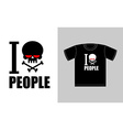 I hate people Symbol of hatred skull with bones vector image vector image