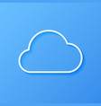 icon weather cloud vector image
