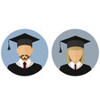 icons set student graduate avatar a man and a vector image