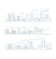 industrial city landscape factory urban smog vector image
