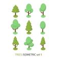 Isometric tree set 1 vector image