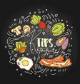 ketogenic tips food sketch - multy vector image