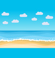 landscape with summer beach vector image
