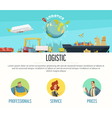 Logistics Page Design vector image vector image