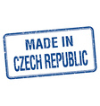 made in Czech Republic blue square isolated stamp vector image vector image
