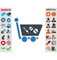 Medication Shopping Cart Icon vector image