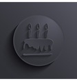 modern dark circle icon Eps10 vector image vector image