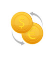 money exchange icon banking currency sign euro vector image