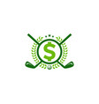 money golf logo icon design vector image
