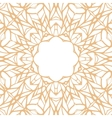 Mosaic ornamental frame abstract background vector image vector image