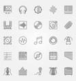 music icons set - outline concept symbols vector image