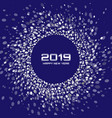 new year 2019 card christmas circle frame vector image vector image