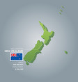 new zealand information map vector image