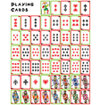 playing cards pack vector image vector image