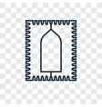 praying mat concept linear icon isolated on vector image