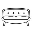 retro old sofa icon outline style vector image vector image