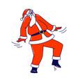 santa claus dance at party or xmas celebration vector image vector image