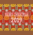 seamless background with christmas decorations vector image
