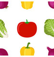 seamless pattern of ripe vegetables from the vector image vector image