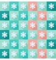Seamless pattern with flat snowflakes vector image vector image