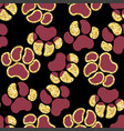 semless golden sparkle pattern with dogs theme vector image vector image