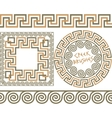 Set 3 Brushes Greek Meander patterns vector image vector image