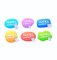 set click and collect banners colorful speech vector image