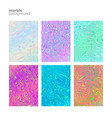 set marble multicolored textures vector image