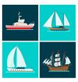 ship cruiser boat sea brochure vessel travel vector image vector image