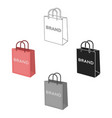 shopping bag icon in cartoonblack style isolated vector image