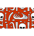 skeleton background bones seamless pattern skull vector image