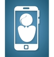 smartphone with user avatar icon vector image vector image