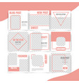 social media banner template pack vector image vector image