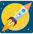 Space Rocket on Moon Background vector image
