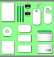 stationery abstract set for your business vector image