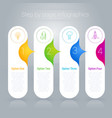 step step infographics template vector image