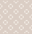 subtle abstract seamless floral pattern in beige vector image vector image