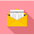 tax mail icon flat style vector image vector image