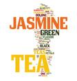 tea what is jasmine tea text background word vector image vector image