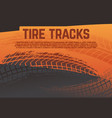 tire tread tracks background grunge racing tire vector image