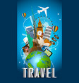 travel famous monument of the world vector image vector image