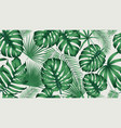 trendy seamless tropical pattern with exotic vector image vector image