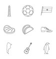 typical argentina icons set outline style vector image vector image