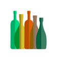 wine bottle icon vector image