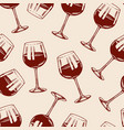 wine seamless pattern alcoholic drink vector image vector image
